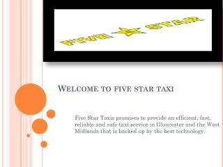 Transport services in Gloucester