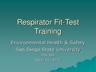Respirator Fit-Test Training