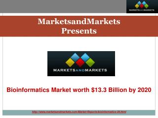 Bioinformatics Market by Application, Segment & Sector -2020