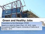 Green and Healthy Jobs