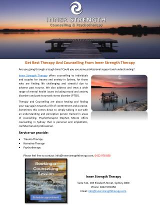 Get Best Therapy And Counselling From Inner Strength Therapy
