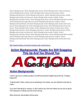 Action Backgrounds Review-$9700 Bonus & 80% Discount