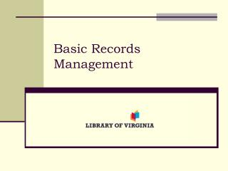 Basic Records Management