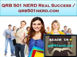 QRB 501 NERD Real Success / qrb501nerd.com