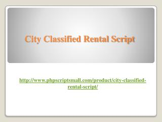 City Classified Rental Script