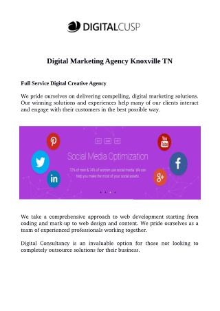 Digital Marketing Agency Knoxville TN