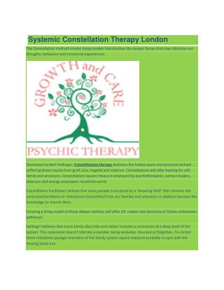 Systemic Constellation Therapy London