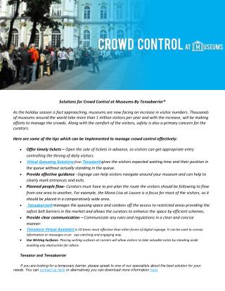 Solutions for Crowd Control at Museums-By Tensabarrier®