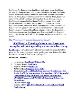 SociBoom Review-$9700 Bonus & 80% Discount