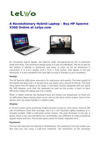 Buy HP Laptop Online