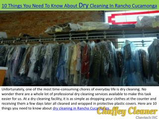 Dry Cleaners in Rancho Cucamonga, Alta Loma | Pick-up and Delivery - Chaffey Cleaners