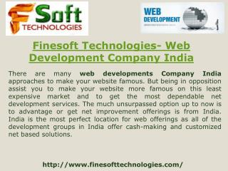 Finesoft Technologies- Web development Company India