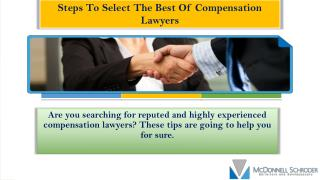 Steps To Select The Best Of Compensation Lawyers