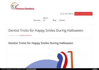 Dentist Tricks for Happy Smiles During Halloween
