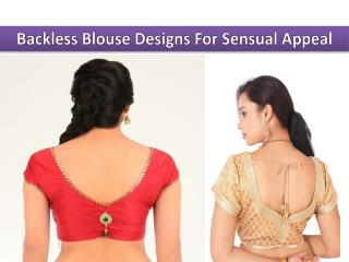 Trendy Backless Blouse Designs For Sensual Appeal