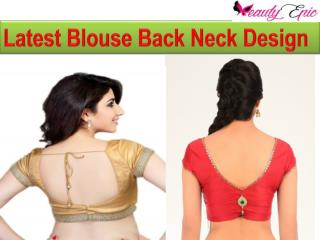 Latest Blouse Back Neck Design For Stylish Women