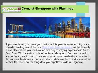 Let's Explore The Beauty of Singapore with Singapore Package