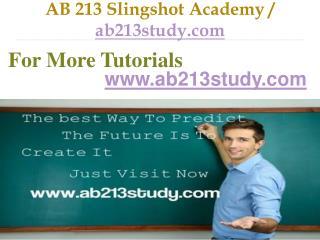 AB 213 Slingshot Academy / ab213study.com