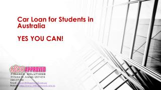 Student Car Loan Australia | 1800277768