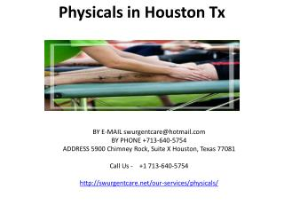 physicals in houston tx