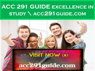 ACC 291 GUIDE excellence in study \ acc291guide.com