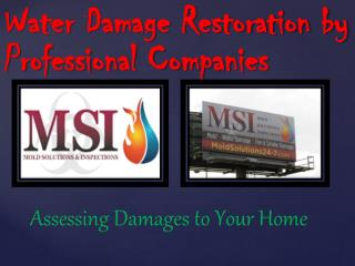 Water Damage Restoration by Professional Companies