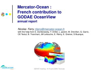 Mercator-Ocean :  French contribution to  GODAE OceanView annual report