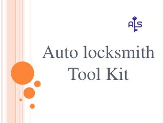 Auto Locksmith Tool Kit