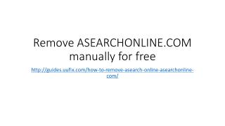 Remove asearchonline.com manually for free