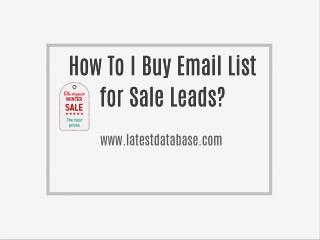 Shopping for Email list and gross sale leads