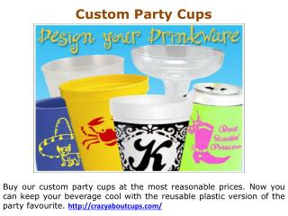 Customized Plastic Cups