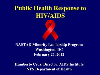Public Health Response to HIV