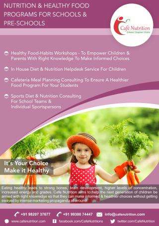 Right Nutrition for Children to make them smart