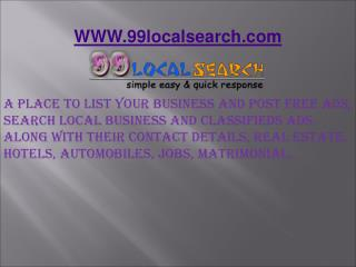 Post Free Ads | Free classifieds website| Ad posting -99localsearch