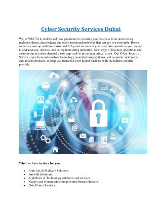 Cyber Security Company in Dubai