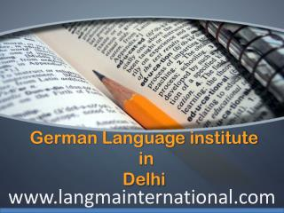 German Language Institute in Delhi