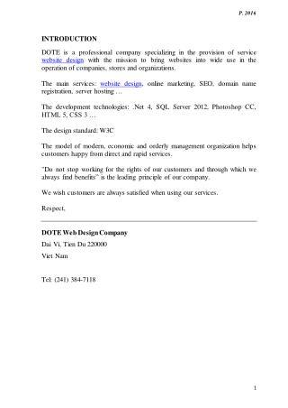 DOTE Web Design Company