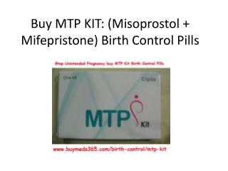 Buy MTP KIT: (Misoprostol   Mifepristone) Birth Control Pills