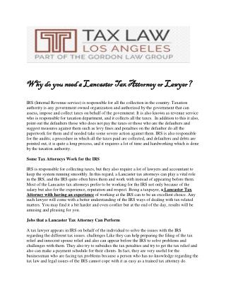 Why_do_you_need_a_Lancaster_Tax_Attorney_or_Lawyer.pdf