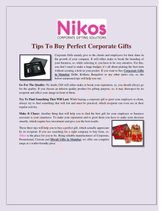 Tips To Buy Perfect Corporate Gifts