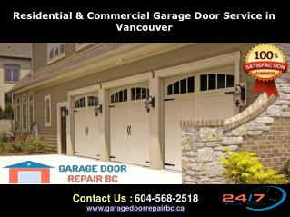 Vancouver Garage Door, Repair, Replacement & Installation Service
