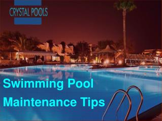 Swimming Pool  Maintance Tips