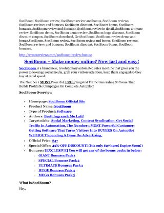 SociBoom review & SECRETS bonus of SociBoom