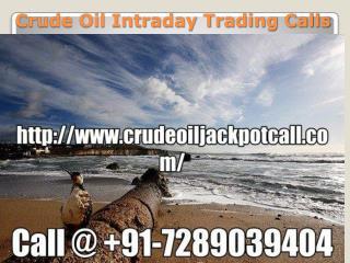 Mcx Crude Oil Trading Tips