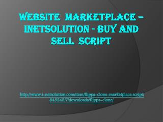 WEBSITE MARKETPLACE – INETSOLUTION - BUY AND SELL SCRIPT