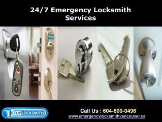 Vancouver 24 Hour Emergency Locksmith Service