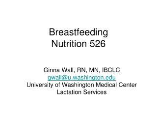 Breastfeeding Nutrition 526