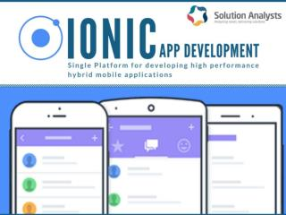 Ionic App Development Company, Hire Ionic Developers- Solution Analysts