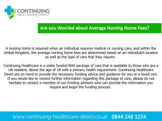 Average Nursing Home Fees - Continuing Healthcare Direct