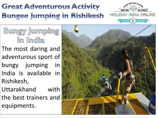 Great Adventure Activity Bungee Jumping Rishikesh